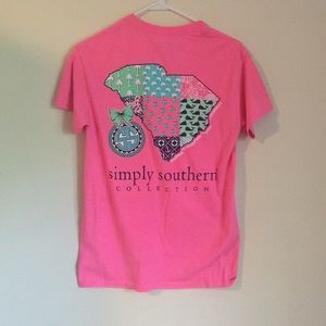 Pink Simply Southern Tee, small